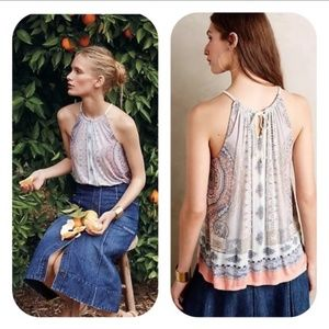 Deletta for Anthropologie Sorin Halter Tank Top